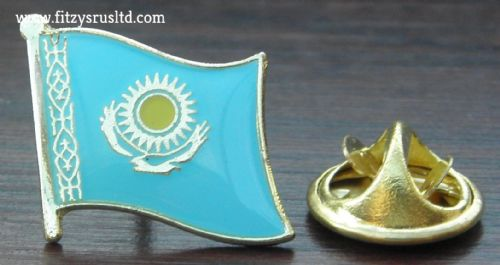Kazakhstan Flag Lapel Hat Cap Tie Pin Badge  Qazaqstan  - New